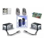 Комплект автоматики для двухстворчатых распашных ворот на основе привода F1000 (блок ZF1N, радиоуправление, фотоэлементы)