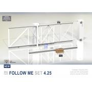 Комплект для телескопических откатных ворот на проезд 4,25 метров