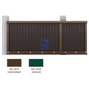 Набор №1 для сборки сдвижных ворот 3500х 2100 коричневый RAL8017