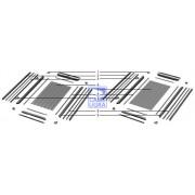 Набор №1 для сборки калитки отдельностоящей 1220x2100 RAL8017