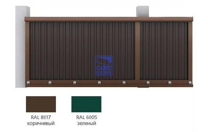 Набор №2  для сборки сдвижных ворот 4000х 2100коричневый RAL8017