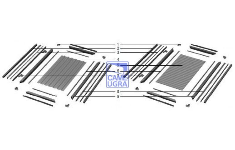 Набор №4 для сборки калитки отдельностоящей 1220х2100 RAL8014