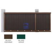 Набор №4 для сборки сдвижных ворот 4500х 2100 (коричневый RAL801