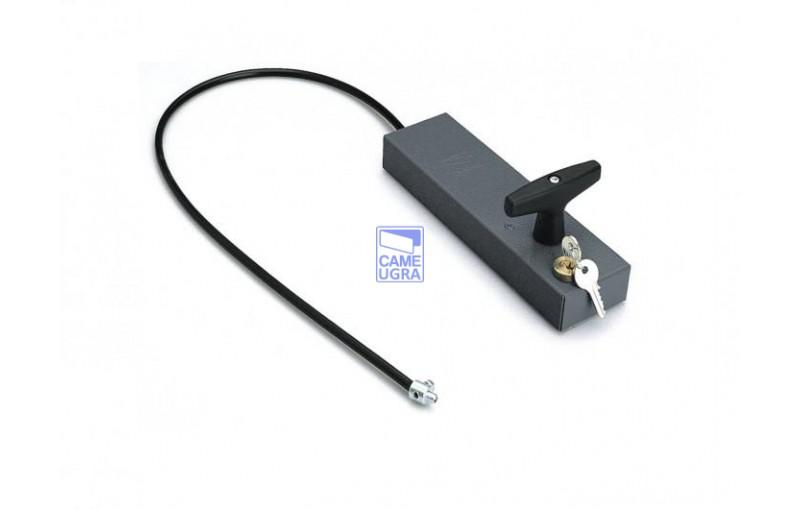 Ручка для разблокировки привода с ключом и тросом для внешней установки /трос 7 метров/