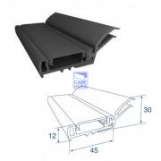 Внешний уплотнитель секционных ворот L=6000 мм. Цвет черный.