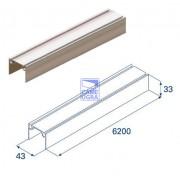 Алюминиевый верхний и нижний профиль L=6200 без покрытия