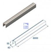 Алюминиевый верхний профиль для панелей с защ. от защемления L=6
