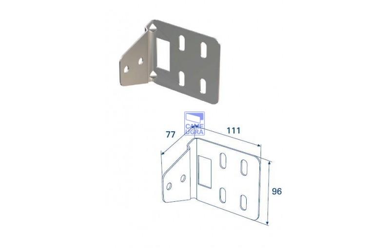 Кронштейн угловой для соединения двойных направляющих и