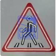 Светодиодный активный импульсный дорожный знак 1.23 Пешеходный п