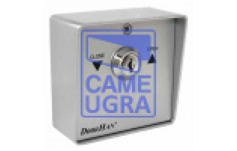 Выключатель металлический SWM кнопка-ключ для рольставен (DOORHA