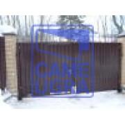 Распашные ворота с калиткой обшивка профлист 5000х2000