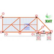 Автоматические откатные ворота 4000х2000 - заполнение