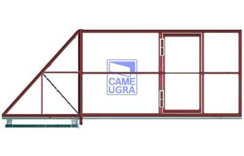 Откатные ворота c калиткой - заполнение
